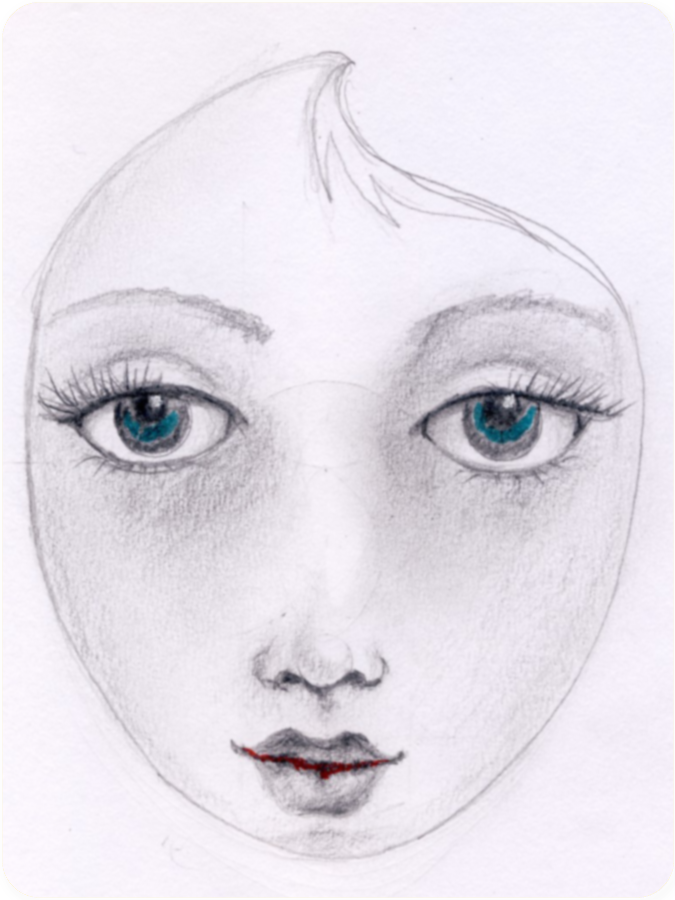 Pretty Face Drawing Previously Posted Shown Here