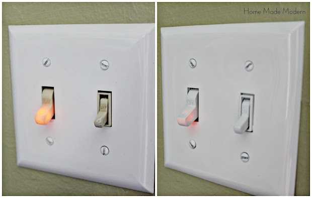 spray painted light switches