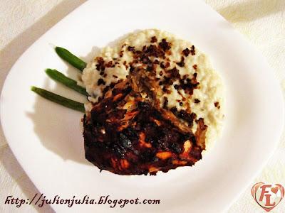 "Egyptian ""Keshk Almaz"" & Broiled Chicken كشك ألمظ مع دجاج محمر"