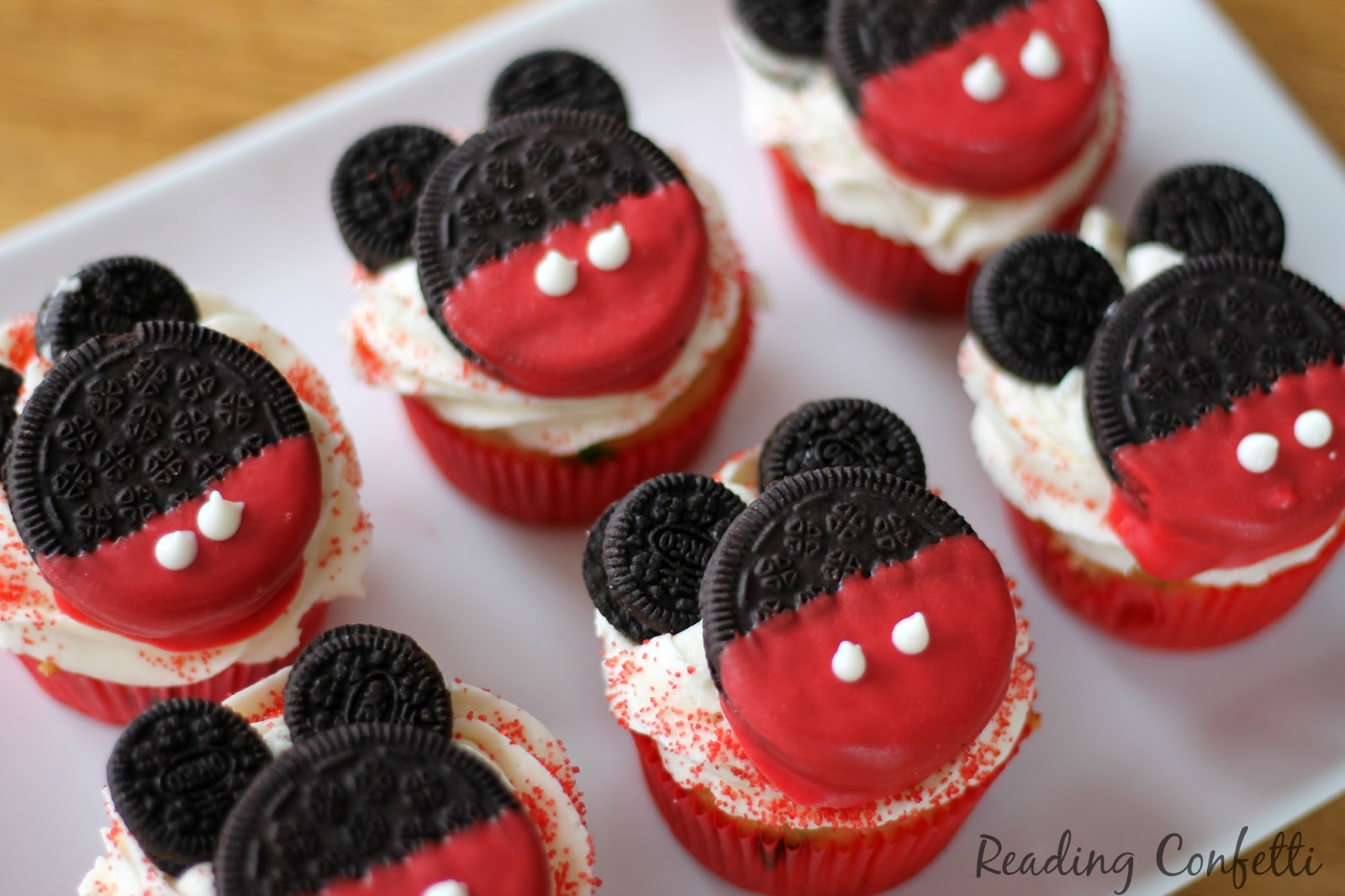 Mickey Mouse Cupcakes Baking with Kids Reading Confetti
