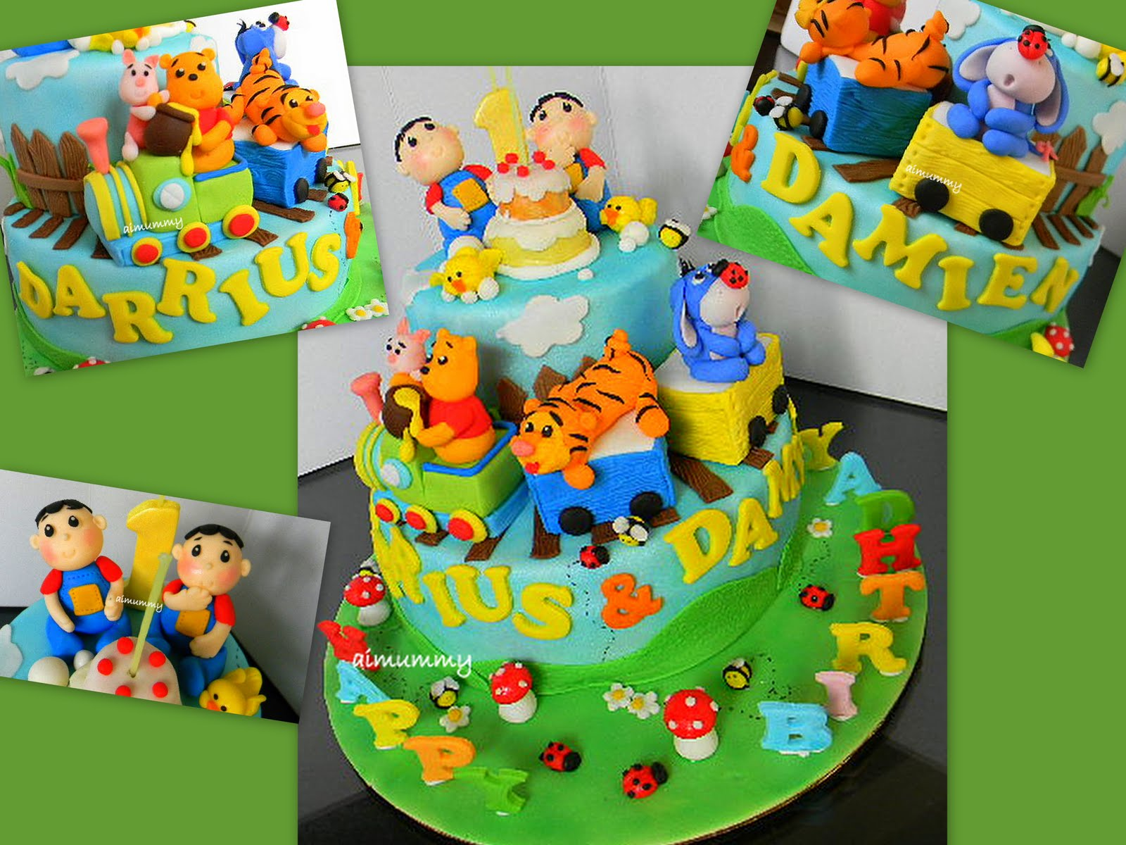 Aimummy Pooh Theme For Twins D