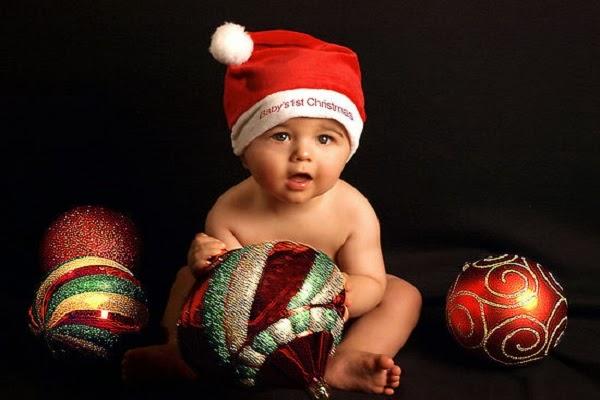 Photo bébé garçon noël