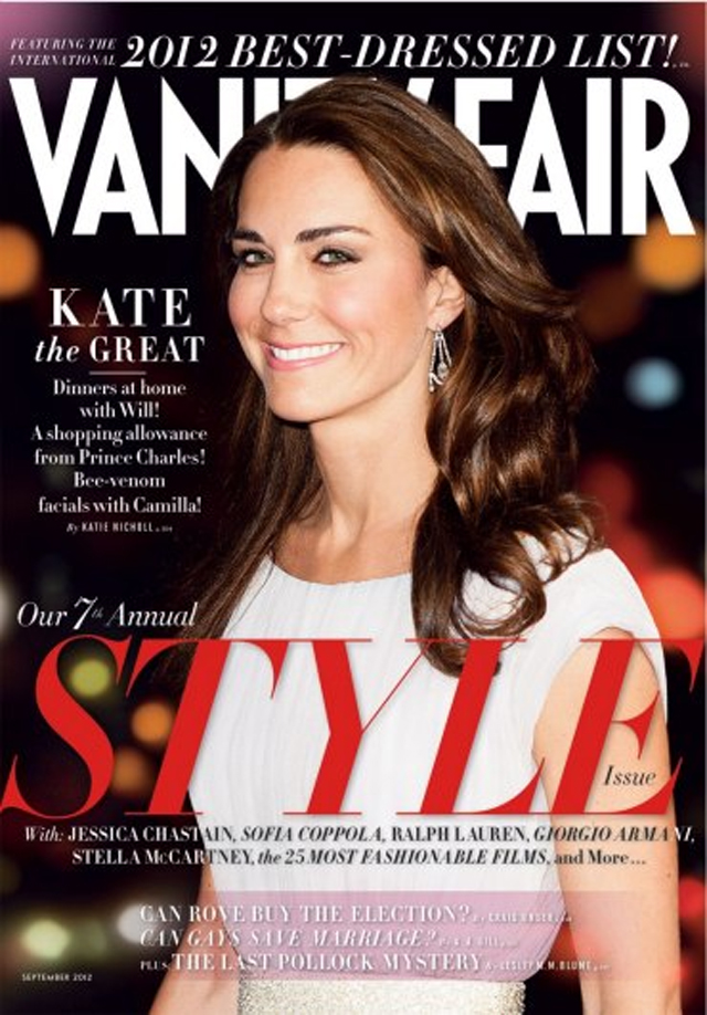 breaking news kate middleton covers vanity fair september 2012