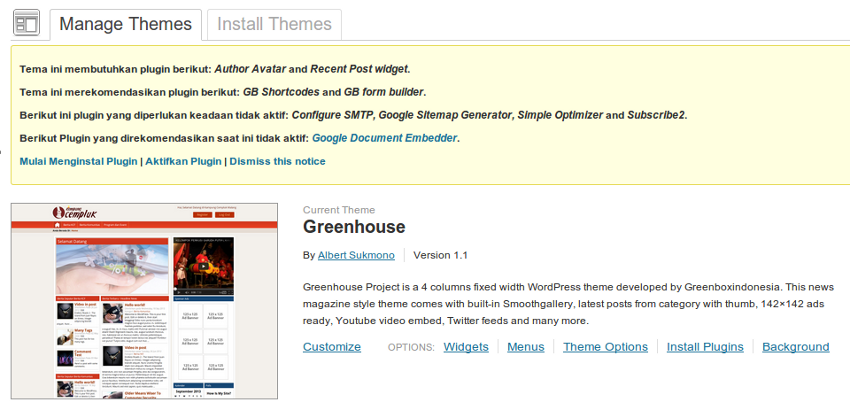 Membuat otomatis install plugin pada themes wordpress