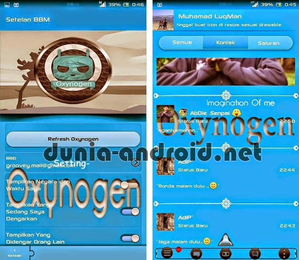 Download BBM Mod Light Blue Oxynogen APK