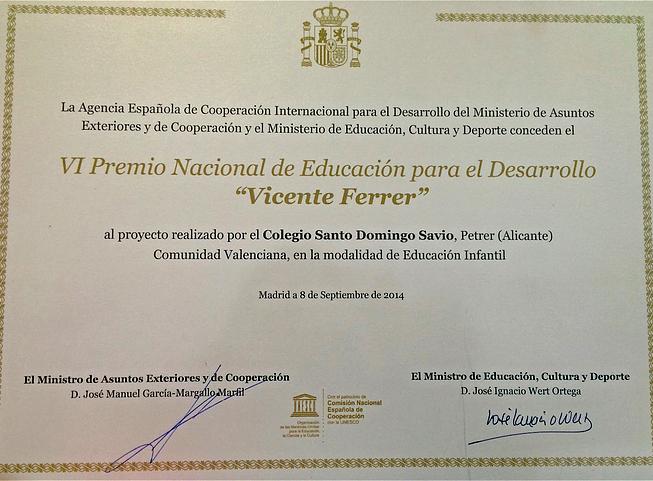 VI Premio Educación Vicente Ferrer