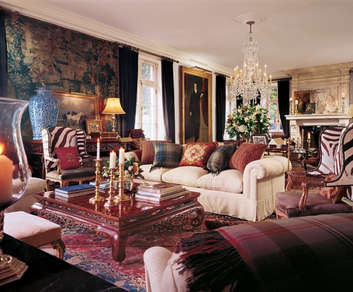 New home interior design ralph lauren s bedford beauty for Ralph lauren living room designs