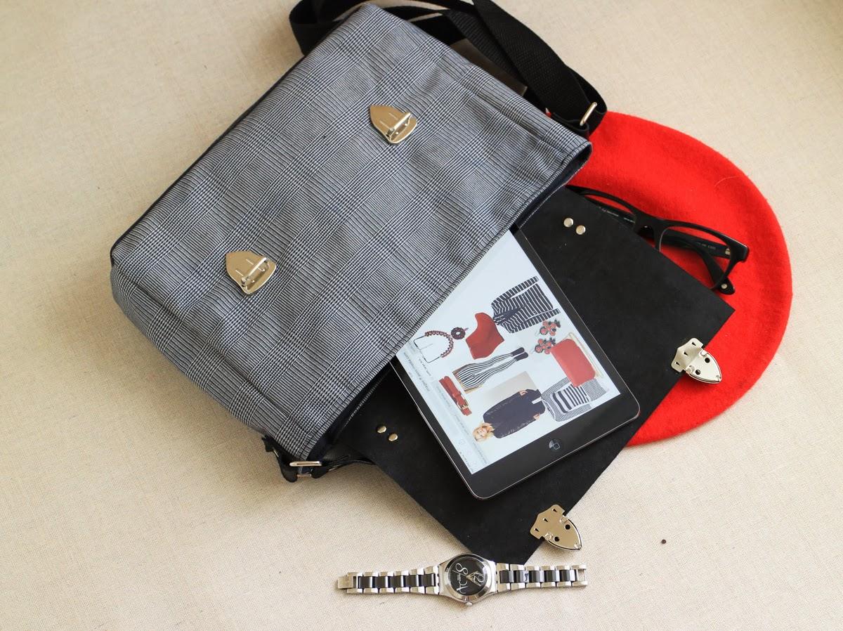 Кожаный портфель на подкладе
