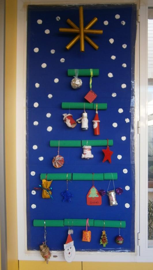 La clase de miren mis experiencias en el aula nuestro for Puertas decoradas navidad material reciclable