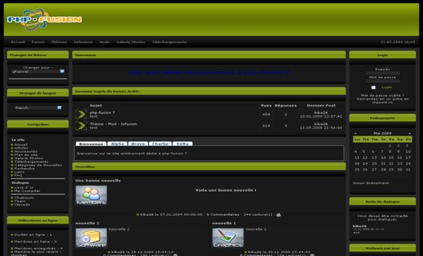 Free php-fusion Abstract Black Green Simple Style Theme - Free Web ...