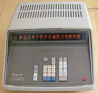 Sharp CS-20A szilícium tranzisztoros számológép