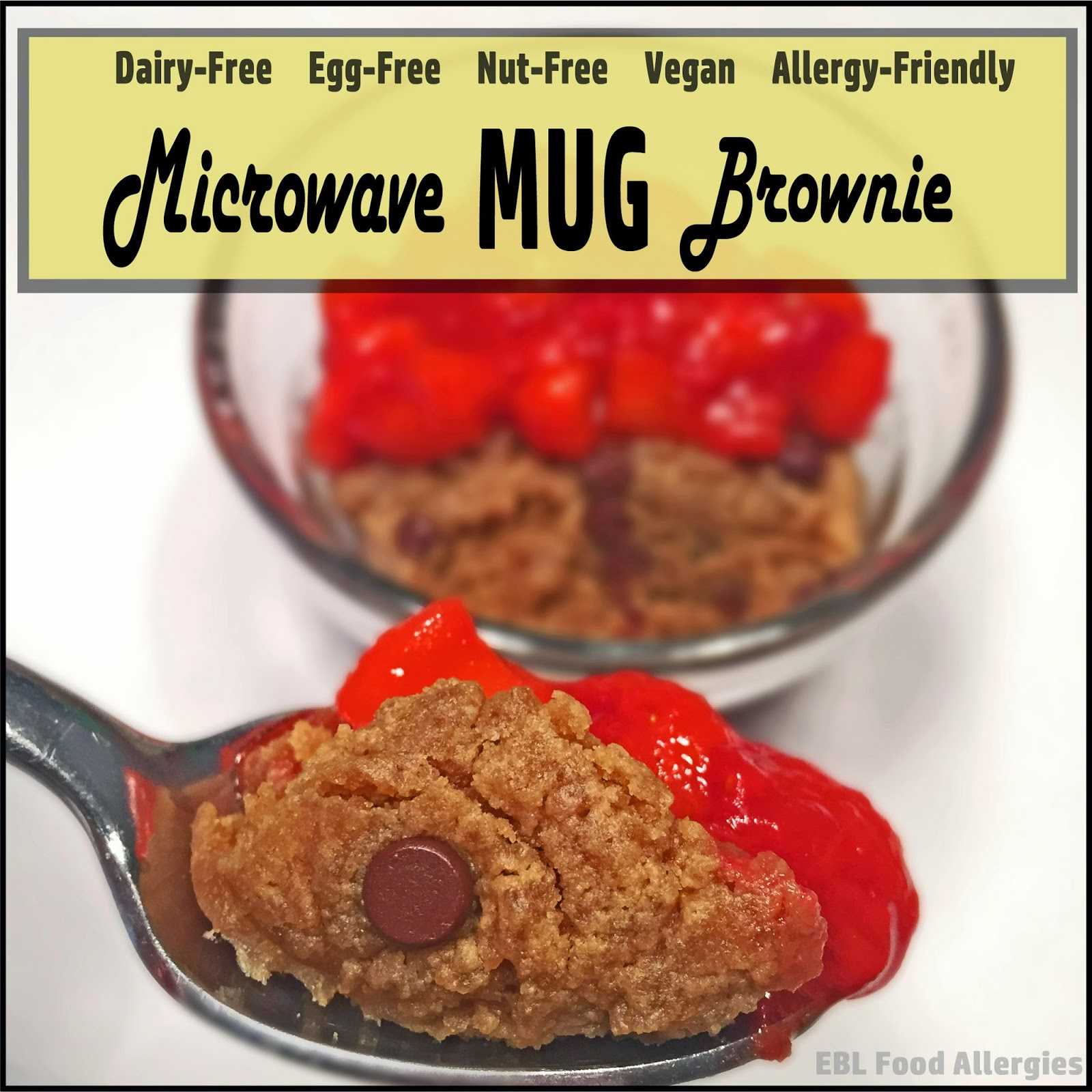 Allergy-Friendly Vegan MUG Brownie