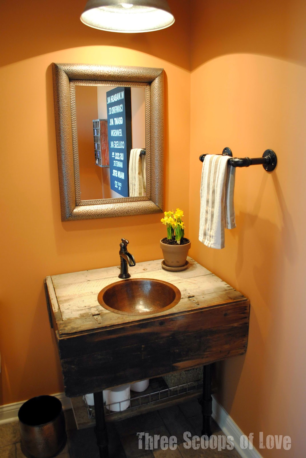 Used Bathroom Sinks Three Scoops Of Love Reclaimed Cabinet Turned Vanity