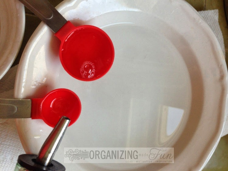 Castille Soap and Olive OIl to clean make up brushes :: OrganizingMadeFun.com