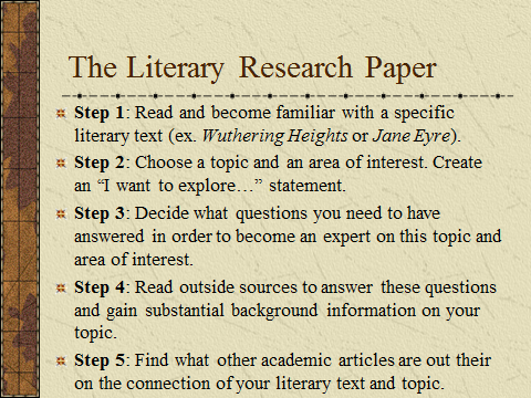 writing a literary research paper