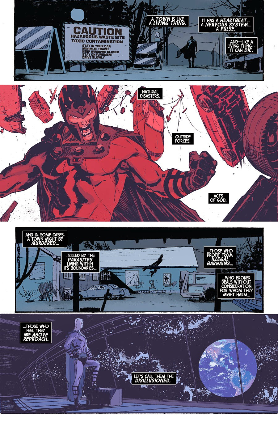 Magneto #8 Interior art by Fernandez