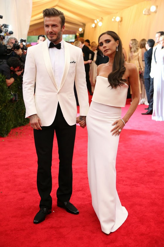 Vectoria beckham David beckham Met Gala Ball 2014