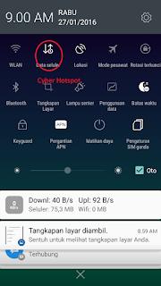 mematikan data seluler android
