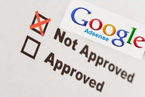 not approved google adsense