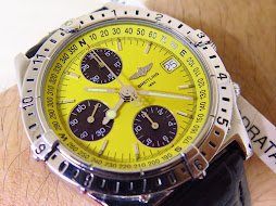 BREITLING CHRONOMAT LONGITUDE - CHRONOGRAPH - YELLOW DIAL - AUTOMATIC