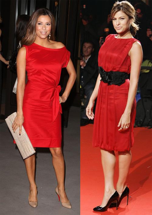 Цвет платья под красные туфли
