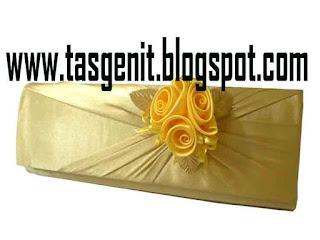 tas pesta bunga clutch bag dompet kondangan