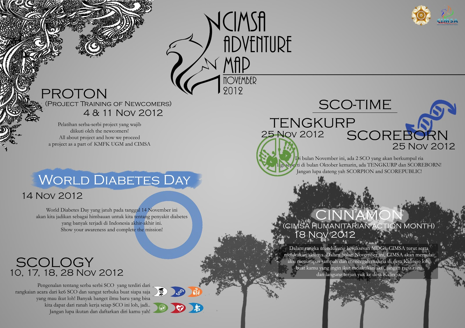 the next great event was called world diabetes day kaukus 5 yippie this event is the scoph s project kaukus 5 means at region 5 which is yogyakarta