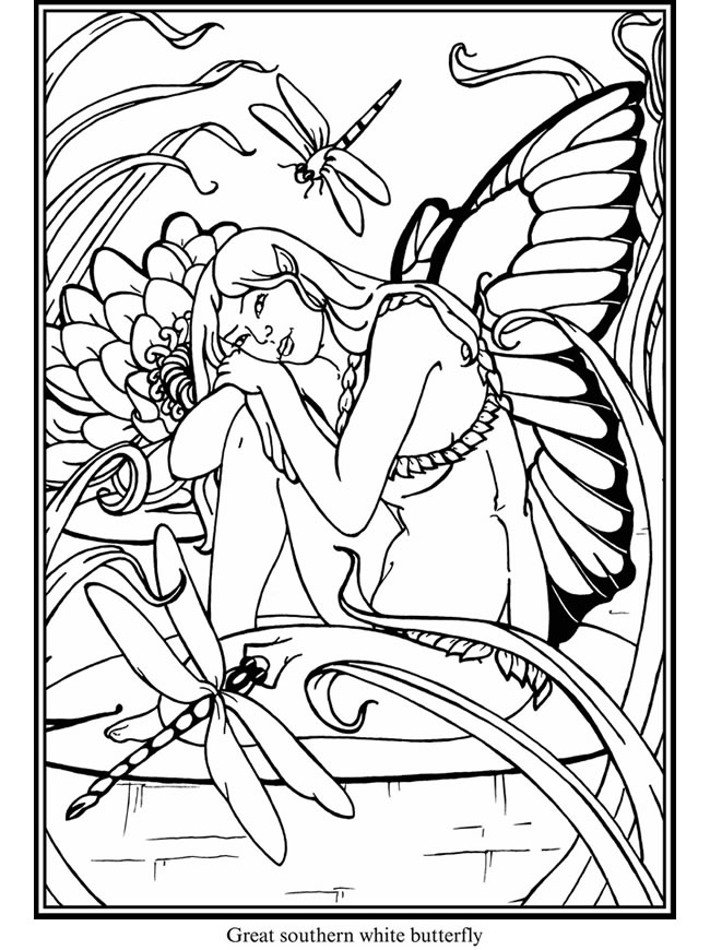 Mimi\'s Pixie Corner: Fairies! Free Coloring Pages!