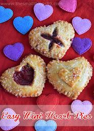 Easy Mini Heart Shaped Pies