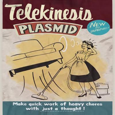 Plasmids Telekinesis 3 Bioshock posters