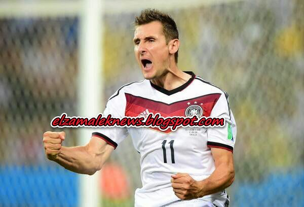 Miroslaf Klose striker of german