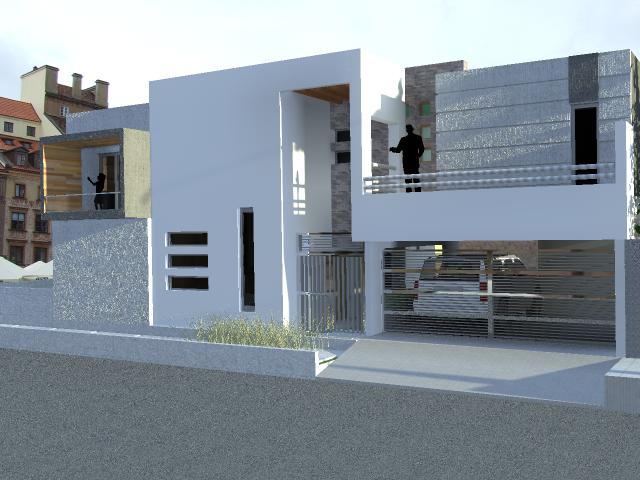 Taller de ark casa rivera 1 - Fachadas para terrazas ...