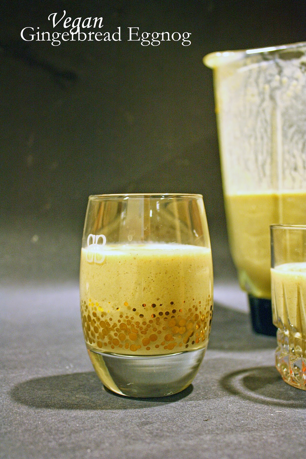vegan gingerbread eggnog