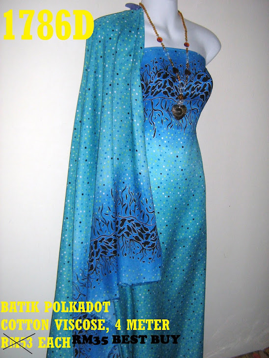 BP 1786D: BATIK POLKADOT COTTON VISCOSE, 4 METER