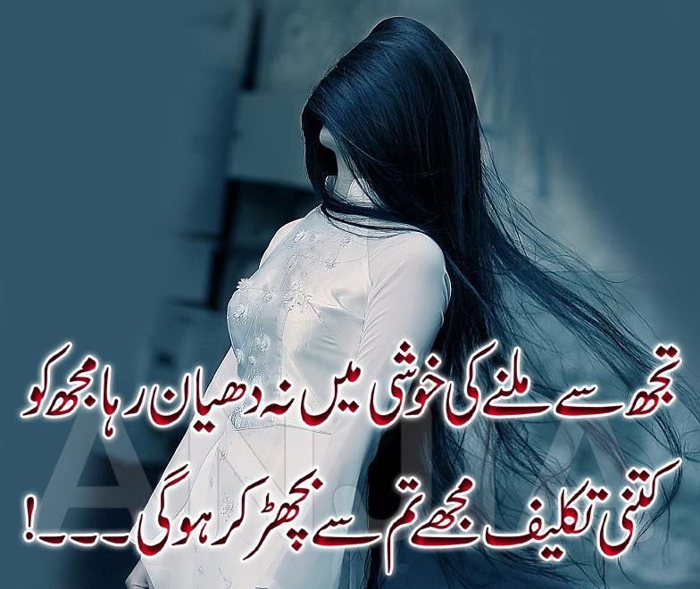 Sad Love Two Lines Urdu Photo Poetry Ghazal