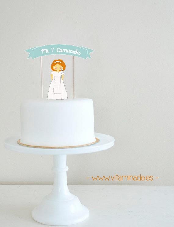 Cake topper tarta de comunión