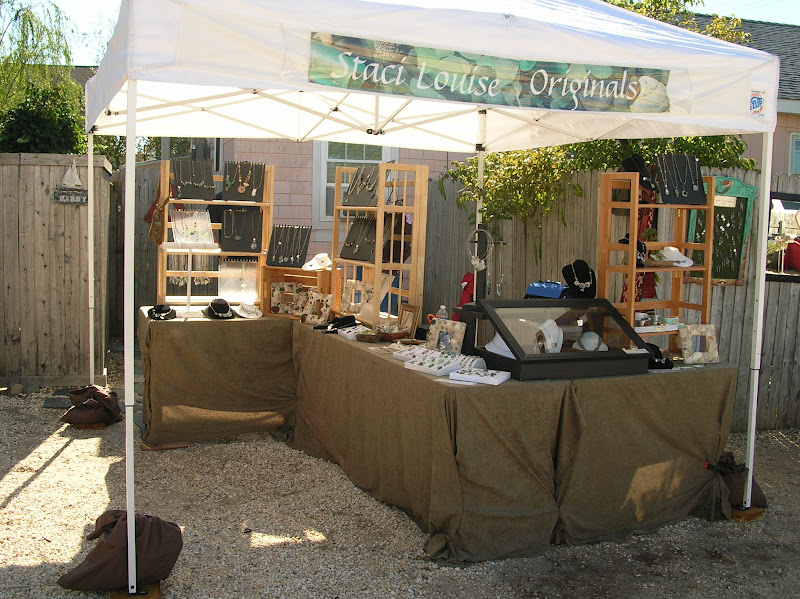 You can see in this picture below we have the sandbags and wood to weight the tent it was too rocky to stake it down. & Love My Art Jewelry: Selling Your Handmade Jewelry at Shows Part 2 ...