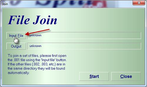 HJSplit Input Cara Menggabungkan File Video