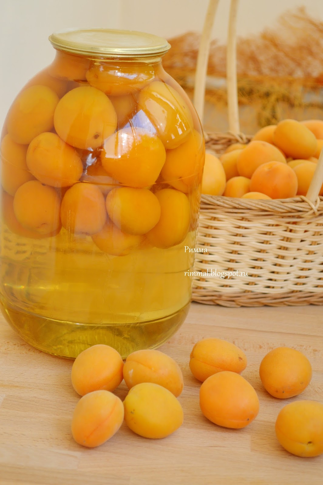 Компот из целых абрикосов на зиму рецепт