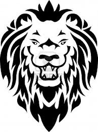 Motif Tato Singa Hitam Putih 15