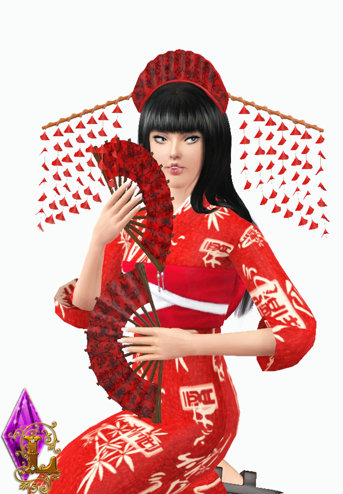 My Sims 3 Blog: Japanese Accessories by Ladesire