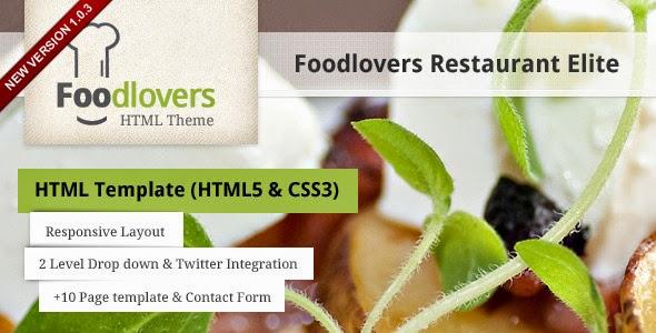 Foodlovers Restaurant Elite - Themeforest Premium Theme