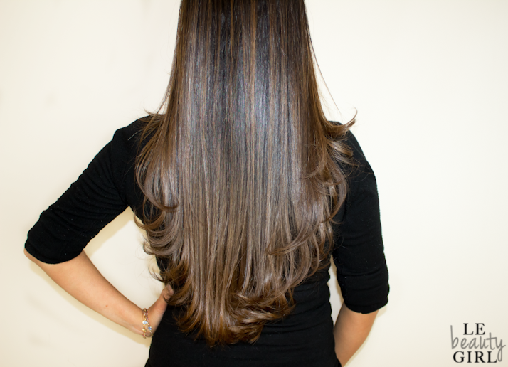 My New Hair: Caramel Ombre Highlights, Brazilian Blow Dry and Haircare Routine