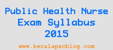 Junior Public Health Nurse Grade 2 Exam Syllabus 2015
