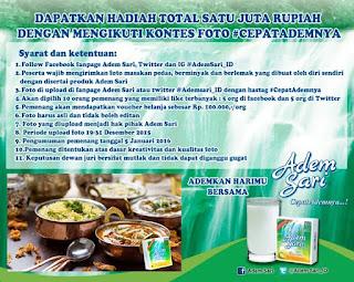 Info Kontes - Kontes Masakan Pedas Adem Sari