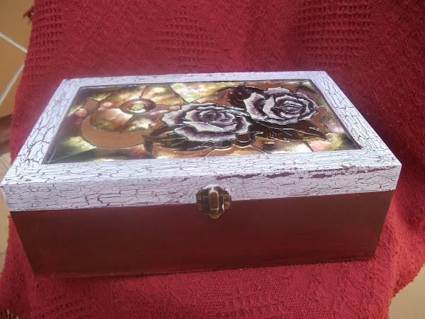 Caja craquelada aprender manualidades es - Caja joyero ikea ...