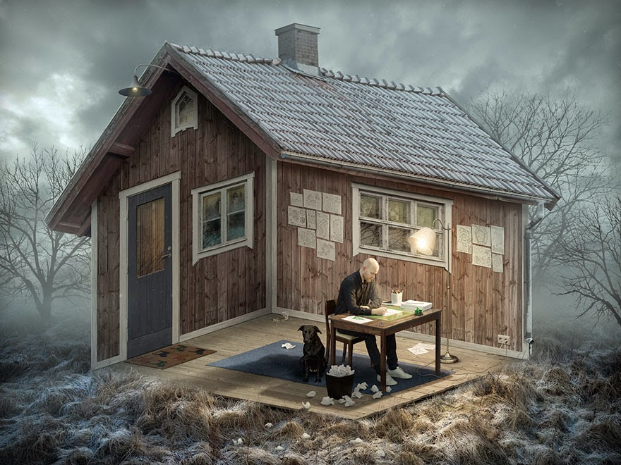 optical illusions manipulations erik johansson