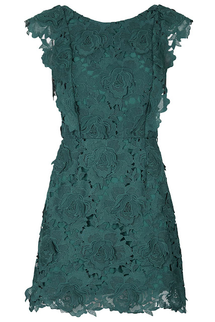 green lace dress, topshop green dress,