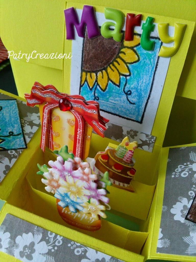 Patry creazioni auguri in scatola girasoli card in a box for Box significato