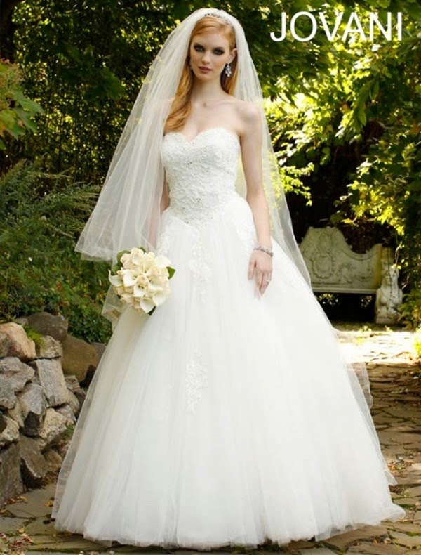 She247 latest wedding gowns for western brides 2014 for Western wedding dresses for womens